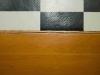 Wood floor panel with crack