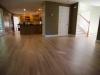 Fresh coat of finish on sanded wood floors