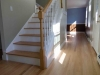 Refinished hardwood floors and stairs