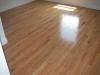 new installed hardwood floors.
