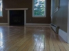 Old hardwood floors with fireplace