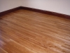 After sanding and refinishing the wood floors