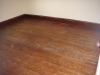 Before sanding and refinishing the wood floors