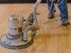Sanding hardwood floors and preping for new finish